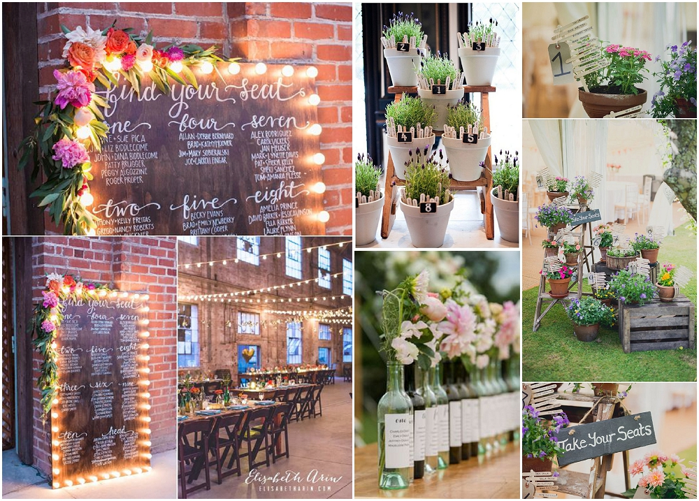 Wedding Ideas Alternative Seating Plan Presentation